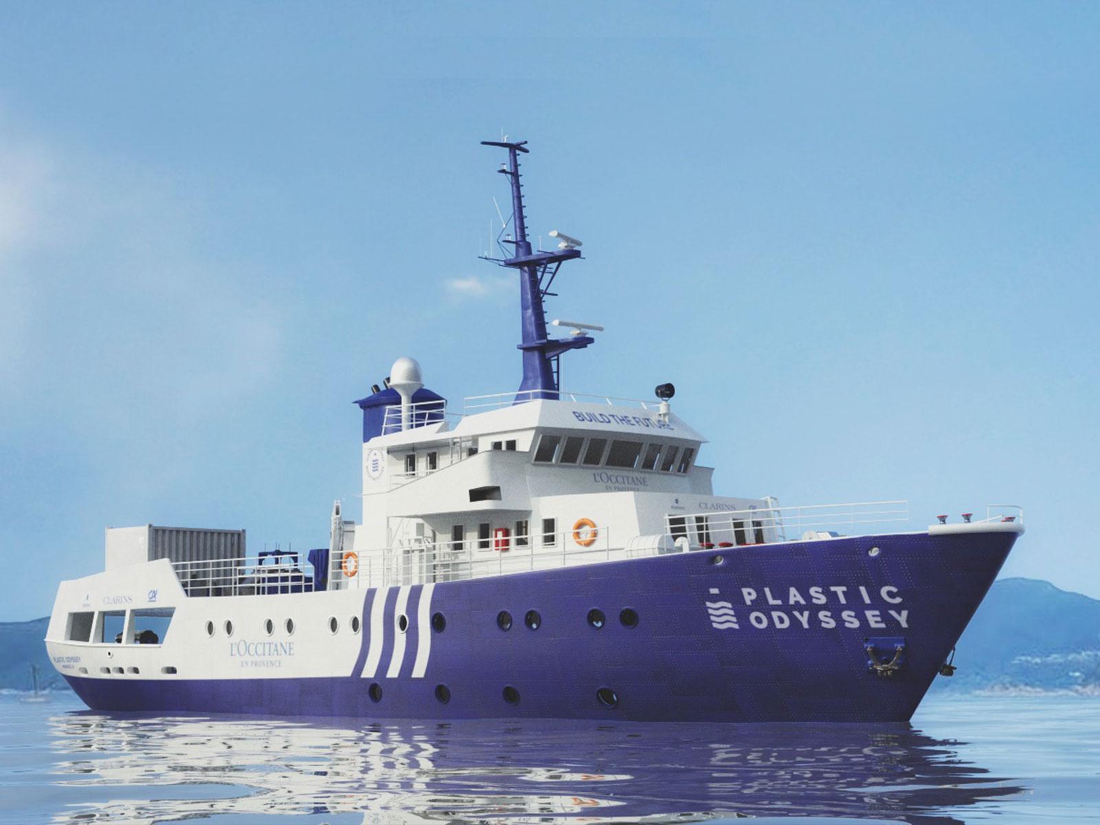 le navire qui carbure aux déchets plastiques_Plastic Odyssey